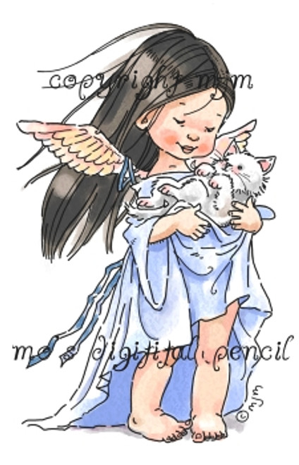 Angel with Kitten