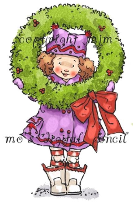Hanna with Wreath
