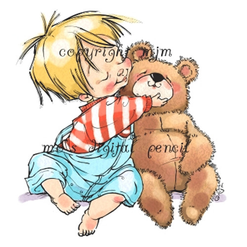 Bastian with Bear