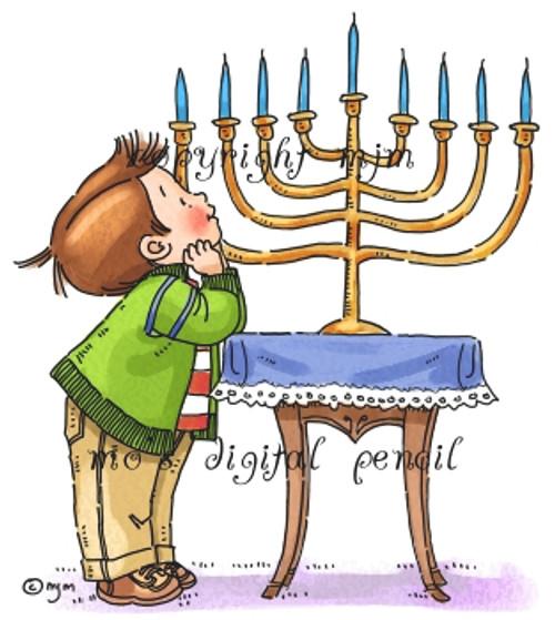 Max at Hanukkah