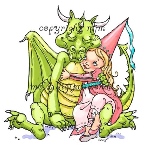 Dragon Hugs Girl