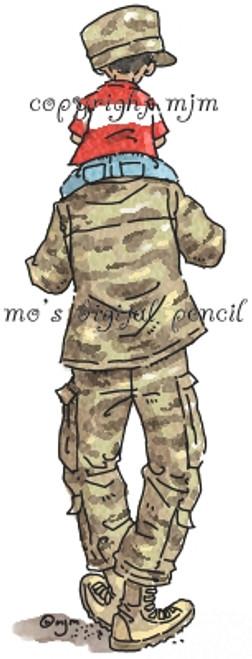 Soldier's Shoulders boy M
