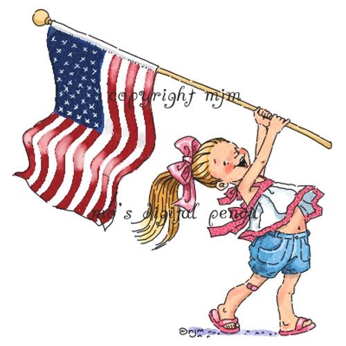 Kacy with Flag