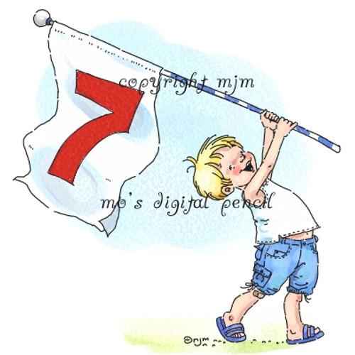 John with Flag
