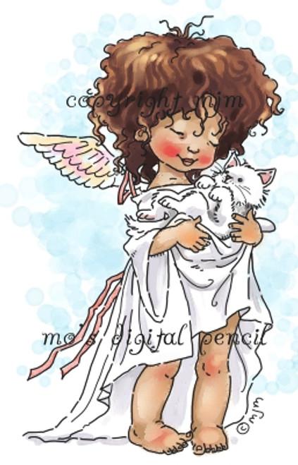 Angel with Kitten (c)