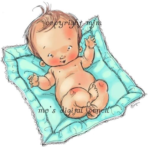 Baby on Blankie