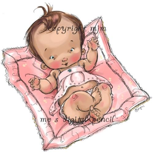 Baby Girl on Blankie
