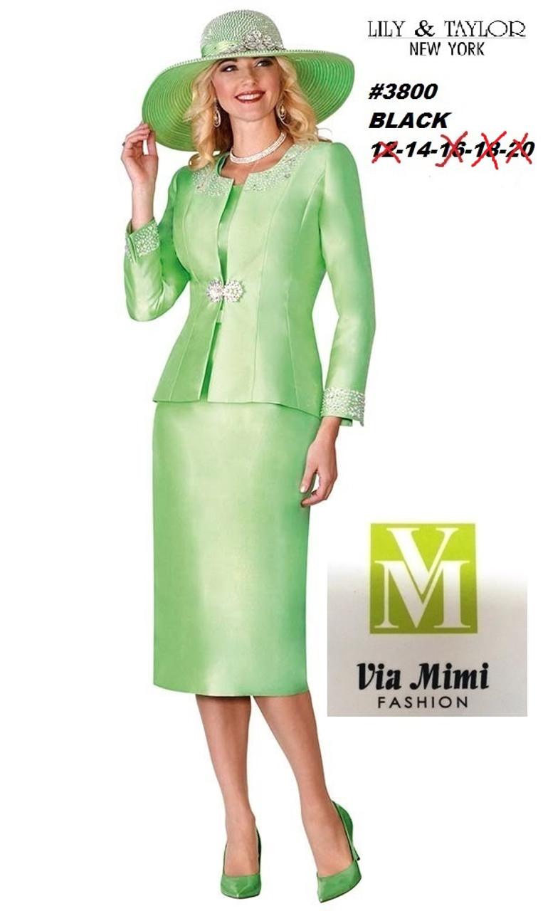 70469edd1cdd98 Silky Twill Skirt Suit with Rhinestones. Black size 14