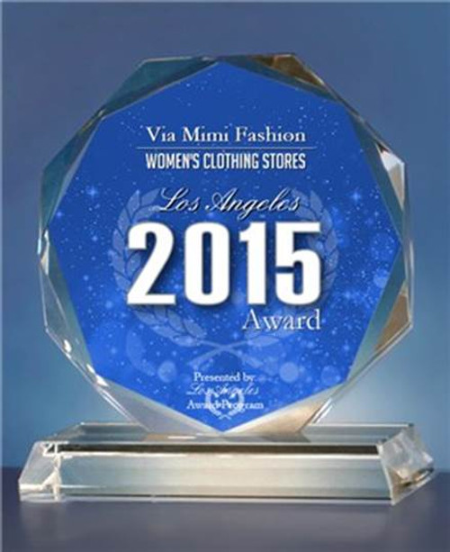 VIA MIMI FASHION AWARD 2015!!!!!  WE ARE PROUD TO ANNOUNCE Los Angeles Award Program Honored The Achievement of  Via Mimi Fashion on October 21, 2015 Los Angeles Award.  VIA MIMI FASHION has been Selected for the 2015 LOs Angeles Award in Women's Clothing Stores Category!!  Each Year , The los Angeles Award Program Identifies companies That They Believe Have Achieved Exceptional Marketing Success In Their Local Community and Business Category.  The 2015 LOs Angeles Award Program Focuses on Quality, not Quantity.  Winners are Determined Based on The Information Gathered Both Internally by The Los Angeles Program  and Data Provided by Third Parties.  VIA MIMI FASHION  1333 S. Santee St., LA, CA. 90021  TEL: (213)748-MIMI (6464)  FAX: (213)749-MIMI (6464)  E-Mail: mimi@viamimifashion.com  Site: http://viamimifashion.com