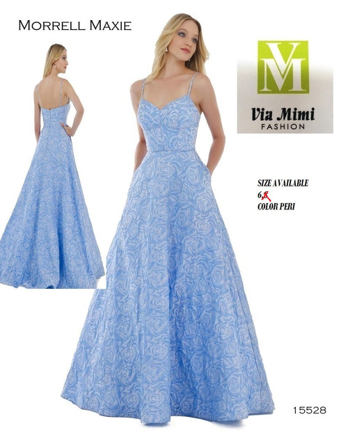 MORRELL MAXIE 2017 STYLE 15528 PERI AS THE PICTURE SIZE 6 ONLY SPECIAL PRICE $219.00