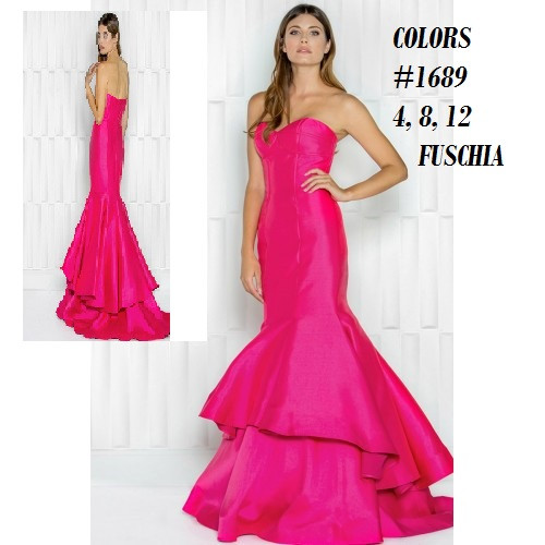 COLORS DRESS STYLE 1689  COLOR : FUCSHIA   SIZE 12 ONLY    BEFORE $349.00  NOW $199.00   VIA MIMI FASHION  1333 S. SANTEE ST.  LA,CA.90015  TEL: (213)748-MIMI (6464)  FAX: (213)749-MIMI (6464)  E-Mail: mimi@viamimifashion.com  WEBSITE  http://viamimifashion.com  https://www.facebook.com/viamimifashion     https://www.instagram.com/viamimifashion  https://twitter.com/viamimifashion