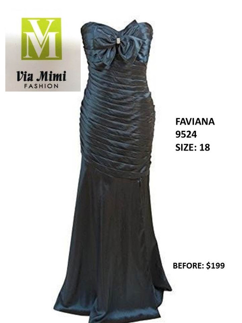 FAVIANA STYLE 9524 SIZE 18 TEAL COLOR SPECIAL PRICE $159.00 !!