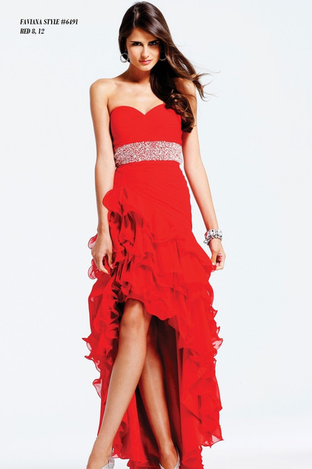 FAVIANA STYLE 6491  COLOR : RED  SIZE :  8-10  ONLY   BEFORE $489.00  NOW $299.00  WE BEAT ALL PRICES !!!  FRO MORE IMFORMATION PLEASE CALL US   VIA MIMI FASHION  1333 S. SANTEE ST.  LA,CA.90015  TEL: (213)748-MIMI (6464)  FAX: (213)749-MIMI (6464)  E-Mail: mimi@viamimifashion.com  WEBSITE  http://viamimifashion.com  https://www.facebook.com/viamimifashion     https://www.instagram.com/viamimifashion  https://twitter.com/viamimifashion