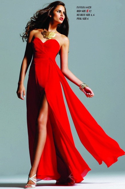 FAVIANA STYLE 6428  RED SIZE 12- ICEBLUE SIZE 4-6, PINK SIZE 6 SPECIAL PRICE $189.00!!!