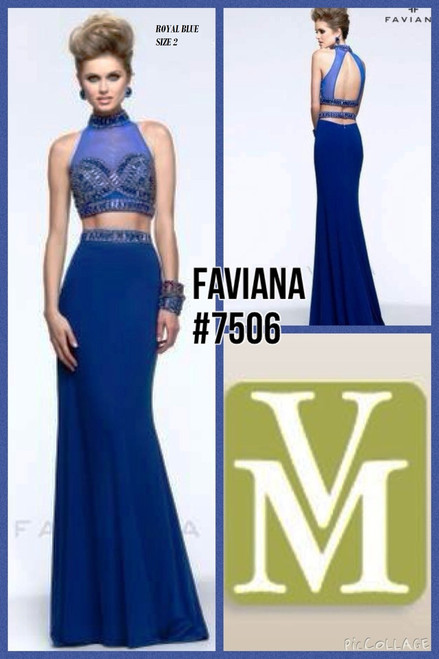 FAVIANA STYLE 7506 ROYAL BLUE SIZE 2 ONLY SPECIAL PRICE $279.00!!!