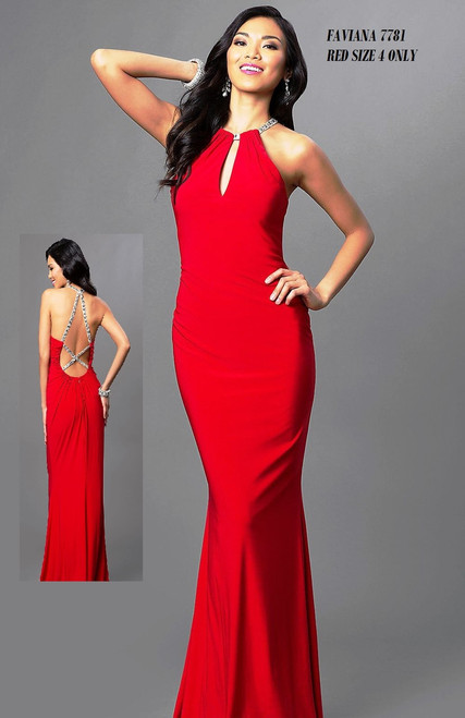 FAVIANA STYLE 7781 RED SIZE 4 ONLY SPECIAL PRICE $229.00 !!!