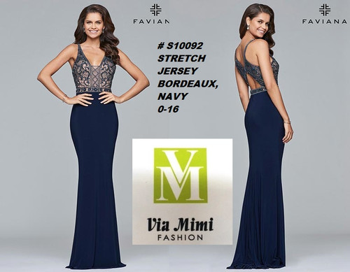 FAVIANA STYLE #S10092  STRETCH JERSEY   SIZE : 00-16  COLOR: BORDEAUX, NAVY  FOR MORE IMFORMATION AND PRICE PLEASE GIVE US A CALL   WE BEAT  ALL PRICES !!!!  VIA MIMI FASHION  1333 S. SANTEE ST.  LA,CA.90015  TEL: (213)748-MIMI (6464)  FAX: (213)749-MIMI (6464)  E-Mail: mimi@viamimifashion.com  http://viamimifashion.com  https://www.facebook.com/viamimifashion    https://www.instagram.com/viamimifashion  https://twitter.com/viamimifashion