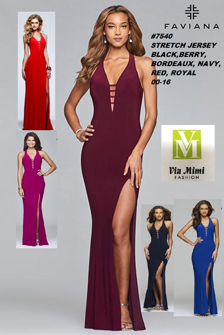 FAVIANA STYLE #7540  STRETCH  JERSEY   SIZE : 00-16  COLOR: BLACK, BERRY, BORDEAUX, NAVY, RED, ROYAL  FOR MORE IMFORMATION AND PRICE PLEASE GIVE US A CALL   WE BEAT  ALL PRICES !!!!  VIA MIMI FASHION  1333 S. SANTEE ST.  LA,CA.90015  TEL: (213)748-MIMI (6464)  FAX: (213)749-MIMI (6464)  E-Mail: mimi@viamimifashion.com  http://viamimifashion.com  https://www.facebook.com/viamimifashion    https://www.instagram.com/viamimifashion  https://twitter.com/viamimifashion