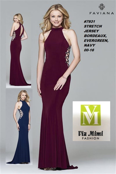 FAVIANA STYLE #7931 STRETCH JERSEY   SIZE : 00-16  COLOR: BORDEAUX, EVERGREEN, NAVY  FOR MORE IMFORMATION AND PRICE PLEASE GIVE US A CALL   WE BEAT  ALL PRICES !!!!  VIA MIMI FASHION  1333 S. SANTEE ST.  LA,CA.90015  TEL: (213)748-MIMI (6464)  FAX: (213)749-MIMI (6464)  E-Mail: mimi@viamimifashion.com  http://viamimifashion.com  https://www.facebook.com/viamimifashion    https://www.instagram.com/viamimifashion  https://twitter.com/viamimifashion