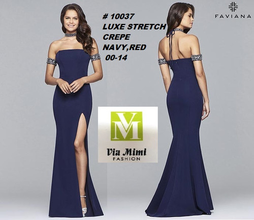 FAVIANA STYLE #10037  LUXE STRETCH CREPE   SIZE : 00-14  COLOR: NAVY, RED  FOR MORE IMFORMATION AND PRICE PLEASE GIVE US A CALL   WE BEAT  ALL PRICES !!!!  VIA MIMI FASHION  1333 S. SANTEE ST.  LA,CA.90015  TEL: (213)748-MIMI (6464)  FAX: (213)749-MIMI (6464)  E-Mail: mimi@viamimifashion.com  http://viamimifashion.com  https://www.facebook.com/viamimifashion    https://www.instagram.com/viamimifashion  https://twitter.com/viamimifashion