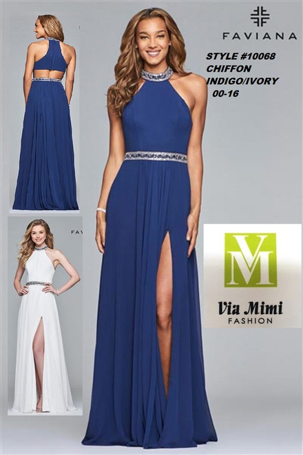 FAVIANA STYLE #10068 CHIFFON   SIZE : 00-16  COLOR: INDIGO, IVORY  FOR MORE IMFORMATION AND PRICE PLEASE GIVE US A CALL   WE BEAT  ALL PRICES !!!!  VIA MIMI FASHION  1333 S. SANTEE ST.  LA,CA.90015  TEL: (213)748-MIMI (6464)  FAX: (213)749-MIMI (6464)  E-Mail: mimi@viamimifashion.com  http://viamimifashion.com  https://www.facebook.com/viamimifashion    https://www.instagram.com/viamimifashion  https://twitter.com/viamimifashion