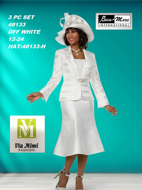 BEN MARC STYLE #48133  3 PC SET  COLOR: OFF-WHITE  SIZE : 12-24  HAT: 48133-H  FOR MORE IMFORMATION AND PRICE PLEASE GIVE US A CALL   WE BEAT  ALL PRICES !!!!  VIA MIMI FASHION  1333 S. SANTEE ST.  LA,CA.90015  TEL: (213)748-MIMI (6464)  FAX: (213)749-MIMI (6464)  E-Mail: mimi@viamimifashion.com  http://viamimifashion.com  https://www.facebook.com/viamimifashion    https://www.instagram.com/viamimifashion  https://twitter.com/viamimifashion