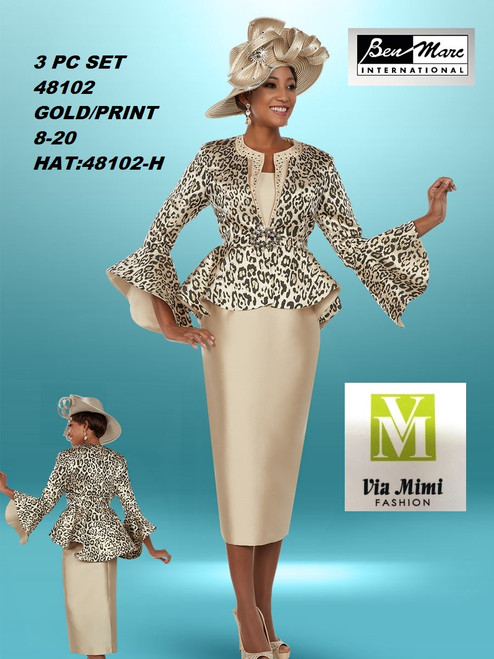 BEN MARC STYLE #48102  3 PC SET  COLOR: GOLD/PRINT  SIZE :8-20  HAT: 48102-H  FOR MORE IMFORMATION AND PRICE PLEASE GIVE US A CALL   WE BEAT  ALL PRICES !!!!  VIA MIMI FASHION  1333 S. SANTEE ST.  LA,CA.90015  TEL: (213)748-MIMI (6464)  FAX: (213)749-MIMI (6464)  E-Mail: mimi@viamimifashion.com  http://viamimifashion.com  https://www.facebook.com/viamimifashion    https://www.instagram.com/viamimifashion  https://twitter.com/viamimifashion