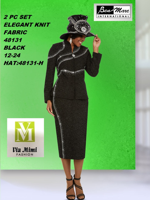 BEN MARC STYLE #48131  2 PC KNIT  SET  COLOR: BLACK   SIZE :12-24  HAT: 48131-H  FOR MORE IMFORMATION AND PRICE PLEASE GIVE US A CALL   WE BEAT  ALL PRICES !!!!  VIA MIMI FASHION  1333 S. SANTEE ST.  LA,CA.90015  TEL: (213)748-MIMI (6464)  FAX: (213)749-MIMI (6464)  E-Mail: mimi@viamimifashion.com  http://viamimifashion.com  https://www.facebook.com/viamimifashion    https://www.instagram.com/viamimifashion  https://twitter.com/viamimifashion