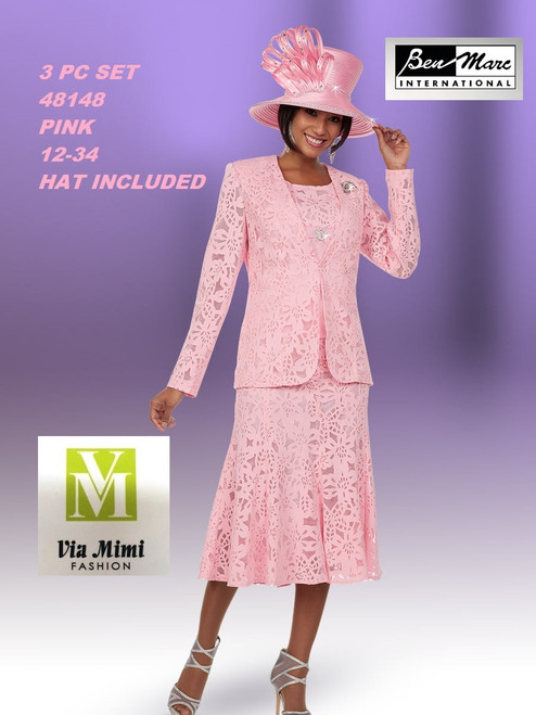 BEN MARC STYLE #48148  3 PC   SET  COLOR: PINK   SIZE : 12-34  HAT: INCLUDED  FOR MORE IMFORMATION AND PRICE PLEASE GIVE US A CALL   WE BEAT  ALL PRICES !!!!  VIA MIMI FASHION  1333 S. SANTEE ST.  LA,CA.90015  TEL: (213)748-MIMI (6464)  FAX: (213)749-MIMI (6464)  E-Mail: mimi@viamimifashion.com  http://viamimifashion.com  https://www.facebook.com/viamimifashion    https://www.instagram.com/viamimifashion  https://twitter.com/viamimifashion