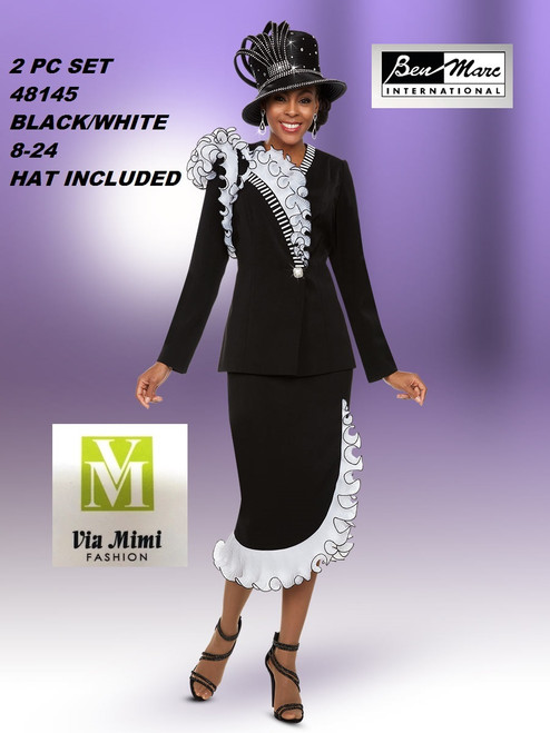 BEN MARC STYLE #48145  2 PC   SET  COLOR: BLACK/WHITE   SIZE :8-24  HAT: INCLUDED  FOR MORE IMFORMATION AND PRICE PLEASE GIVE US A CALL   WE BEAT  ALL PRICES !!!!  VIA MIMI FASHION  1333 S. SANTEE ST.  LA,CA.90015  TEL: (213)748-MIMI (6464)  FAX: (213)749-MIMI (6464)  E-Mail: mimi@viamimifashion.com  http://viamimifashion.com  https://www.facebook.com/viamimifashion    https://www.instagram.com/viamimifashion  https://twitter.com/viamimifashion