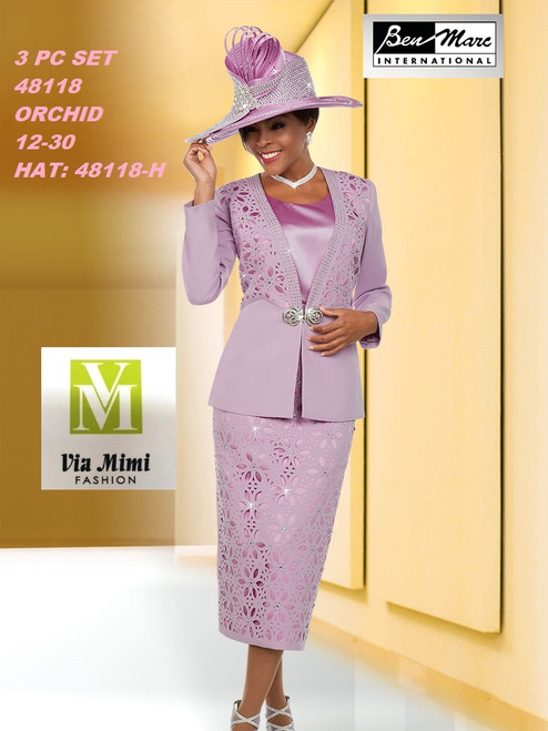 BEN MARC STYLE #48118  3 PC   SET  COLOR: ORCHID  SIZE : 12-30  HAT: 48118-H  FOR MORE IMFORMATION AND PRICE PLEASE GIVE US A CALL   WE BEAT  ALL PRICES !!!!  VIA MIMI FASHION  1333 S. SANTEE ST.  LA,CA.90015  TEL: (213)748-MIMI (6464)  FAX: (213)749-MIMI (6464)  E-Mail: mimi@viamimifashion.com  http://viamimifashion.com  https://www.facebook.com/viamimifashion    https://www.instagram.com/viamimifashion  https://twitter.com/viamimifashion