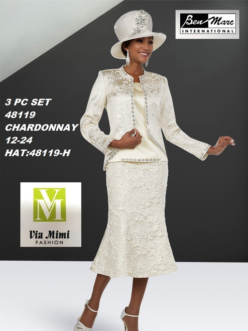 BEN MARC STYLE #48119  3 PC   SET  COLOR: CHARDONNAY  SIZE : 12-24  HAT: 48119-H  FOR MORE IMFORMATION AND PRICE PLEASE GIVE US A CALL   WE BEAT  ALL PRICES !!!!  VIA MIMI FASHION  1333 S. SANTEE ST.  LA,CA.90015  TEL: (213)748-MIMI (6464)  FAX: (213)749-MIMI (6464)  E-Mail: mimi@viamimifashion.com  http://viamimifashion.com  https://www.facebook.com/viamimifashion    https://www.instagram.com/viamimifashion  https://twitter.com/viamimifashion