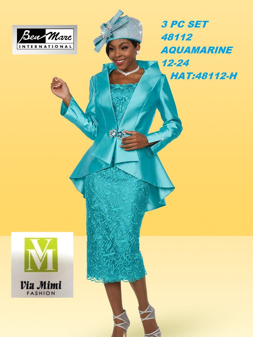 BEN MARC STYLE #48112  3 PC   SET  COLOR: AQUAMARINE  SIZE : 12-24  HAT: 48112-H  FOR MORE IMFORMATION AND PRICE PLEASE GIVE US A CALL   WE BEAT  ALL PRICES !!!!  VIA MIMI FASHION  1333 S. SANTEE ST.  LA,CA.90015  TEL: (213)748-MIMI (6464)  FAX: (213)749-MIMI (6464)  E-Mail: mimi@viamimifashion.com  http://viamimifashion.com  https://www.facebook.com/viamimifashion    https://www.instagram.com/viamimifashion  https://twitter.com/viamimifashion