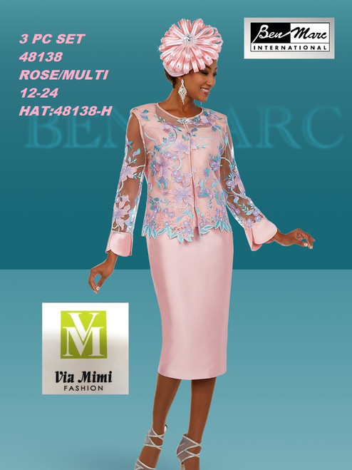 BEN MARC STYLE #48138  3 PC   SET  COLOR: ROSE/MULTI   SIZE : 12-24  HAT: 48138-H  FOR MORE IMFORMATION AND PRICE PLEASE GIVE US A CALL   WE BEAT  ALL PRICES !!!!  VIA MIMI FASHION  1333 S. SANTEE ST.  LA,CA.90015  TEL: (213)748-MIMI (6464)  FAX: (213)749-MIMI (6464)  E-Mail: mimi@viamimifashion.com  http://viamimifashion.com  https://www.facebook.com/viamimifashion    https://www.instagram.com/viamimifashion  https://twitter.com/viamimifashion