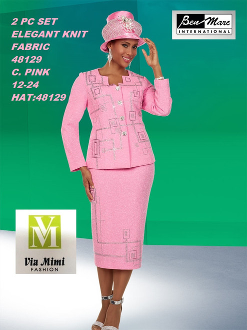 BEN MARC STYLE #48129  2 PC KNIT SET  COLOR: C. PINK   SIZE : 12-24  HAT: 48129-H  FOR MORE IMFORMATION AND PRICE PLEASE GIVE US A CALL   WE BEAT  ALL PRICES !!!!  VIA MIMI FASHION  1333 S. SANTEE ST.  LA,CA.90015  TEL: (213)748-MIMI (6464)  FAX: (213)749-MIMI (6464)  E-Mail: mimi@viamimifashion.com  http://viamimifashion.com  https://www.facebook.com/viamimifashion    https://www.instagram.com/viamimifashion  https://twitter.com/viamimifashion
