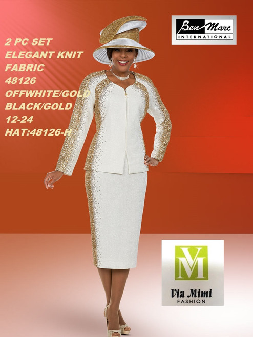 BEN MARC STYLE #48126  2 PC KNIT SET  COLOR: OFF-WHITE/GOLD, BLACK/GOLD SIZE : 12-24  HAT: 48126-H  FOR MORE IMFORMATION AND PRICE PLEASE GIVE US A CALL   WE BEAT  ALL PRICES !!!!  VIA MIMI FASHION  1333 S. SANTEE ST.  LA,CA.90015  TEL: (213)748-MIMI (6464)  FAX: (213)749-MIMI (6464)  E-Mail: mimi@viamimifashion.com  http://viamimifashion.com  https://www.facebook.com/viamimifashion    https://www.instagram.com/viamimifashion  https://twitter.com/viamimifashion