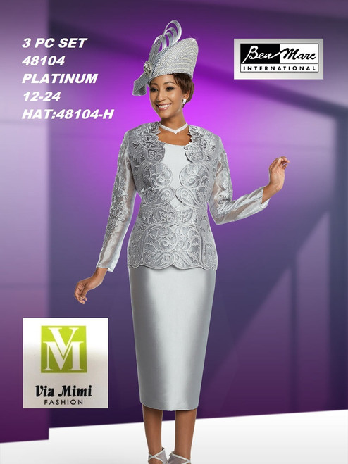 BEN MARC STYLE #48104  3 PC SET  COLOR: PLATINUM  SIZE : 12-24  HAT: 48104-H  FOR MORE IMFORMATION AND PRICE PLEASE GIVE US A CALL   WE BEAT  ALL PRICES !!!!  VIA MIMI FASHION  1333 S. SANTEE ST.  LA,CA.90015  TEL: (213)748-MIMI (6464)  FAX: (213)749-MIMI (6464)  E-Mail: mimi@viamimifashion.com  http://viamimifashion.com  https://www.facebook.com/viamimifashion    https://www.instagram.com/viamimifashion  https://twitter.com/viamimifashion