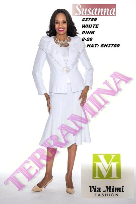 SUSANA STYLE #3789 - 3 PC SET  COLOR: PINK, WHITE  SIZE: 8-26  HAT: SH3789  FOR MORE IMFORMATION AND PRICE PLEASE GIVE US A CALL   WE BEAT  ALL PRICES !!!!  VIA MIMI FASHION  1333 S. SANTEE ST.  LA,CA.90015  TEL: (213)748-MIMI (6464)  FAX: (213)749-MIMI (6464)  E-Mail: mimi@viamimifashion.com  http://viamimifashion.com  https://www.facebook.com/viamimifashion    https://www.instagram.com/viamimifashion  https://twitter.com/viamimifashion