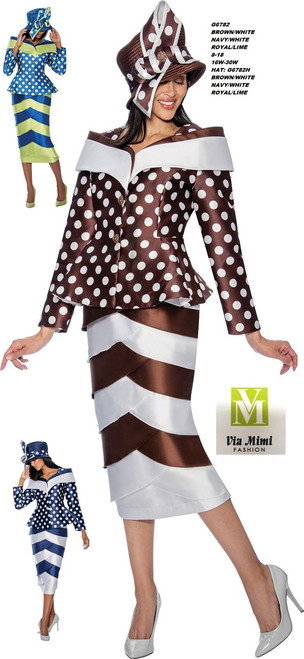 GMI #G6782__   2 PC SET  COLOR: BROWN/WHITE,  NAVY/WHITE,  ROYAL/LIME  SIZE: 8-18 __ 16W-30W  HAT: G6782H  FOR MORE IMFORMATION AND PRICE PLEASE GIVE US A CALL   WE BEAT  ALL PRICES !!!!  VIA MIMI FASHION  1333 S. SANTEE ST.  LA,CA.90015  TEL: (213)748-MIMI (6464)  FAX: (213)749-MIMI (6464)  E-Mail: mimi@viamimifashion.com  http://viamimifashion.com  https://www.facebook.com/viamimifashion    https://www.instagram.com/viamimifashion  https://twitter.com/viamimifashion