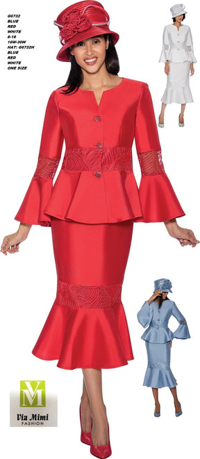 GMI #G6732__   2 PC SET  COLOR: BLUE, RED, WHITE  SIZE: 8-18 __ 16W-30W  HAT: G6732H  FOR MORE IMFORMATION AND PRICE PLEASE GIVE US A CALL   WE BEAT  ALL PRICES !!!!  VIA MIMI FASHION  1333 S. SANTEE ST.  LA,CA.90015  TEL: (213)748-MIMI (6464)  FAX: (213)749-MIMI (6464)  E-Mail: mimi@viamimifashion.com  http://viamimifashion.com  https://www.facebook.com/viamimifashion    https://www.instagram.com/viamimifashion  https://twitter.com/viamimifashion
