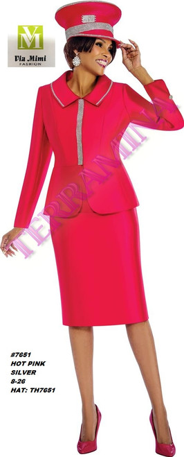 TERRAMINA #7651___ 2 PC SET  COLOR: HOT PINK, SILVER  SIZE: 8-26  HAT: TH7651   FOR MORE IMFORMATION AND PRICE PLEASE GIVE US A CALL   WE BEAT  ALL PRICES !!!!  VIA MIMI FASHION  1333 S. SANTEE ST.  LA,CA.90015  TEL: (213)748-MIMI (6464)  FAX: (213)749-MIMI (6464)  E-Mail: mimi@viamimifashion.com  http://viamimifashion.com  https://www.facebook.com/viamimifashion    https://www.instagram.com/viamimifashion  https://twitter.com/viamimifashion