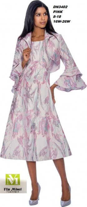 DRESSES BY NUBIANO #DN3402___2 PC DRESS/JACKET  COLOR: PINK  SIZE: 8-18 ____ 16W-26W  FOR MORE IMFORMATION AND PRICE PLEASE GIVE US A CALL   WE BEAT  ALL PRICES !!!!  VIA MIMI FASHION  1333 S. SANTEE ST.  LA,CA.90015  TEL: (213)748-MIMI (6464)  FAX: (213)749-MIMI (6464)  E-Mail: mimi@viamimifashion.com  http://viamimifashion.com  https://www.facebook.com/viamimifashion    https://www.instagram.com/viamimifashion  https://twitter.com/viamimifashion