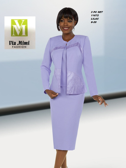 EXECUTIVE #11672__  3 PC SET  COLOR: LILAC  SIZE: 8-20  FOR MORE IMFORMATION AND PRICE PLEASE GIVE US A CALL   WE BEAT  ALL PRICES !!!!  VIA MIMI FASHION  1333 S. SANTEE ST.  LA,CA.90015  TEL: (213)748-MIMI (6464)  FAX: (213)749-MIMI (6464)  E-Mail: mimi@viamimifashion.com  http://viamimifashion.com  https://www.facebook.com/viamimifashion    https://www.instagram.com/viamimifashion  https://twitter.com/viamimifashion