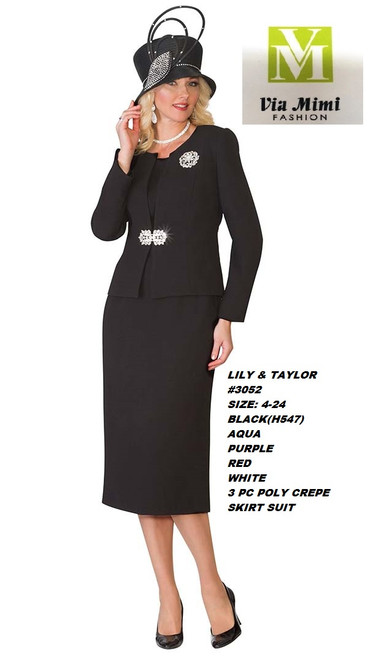 LILY & TAYLOR #3052 __  3 PC  SET  COLOR: BLACK, AQUA,PURPLE, RED,WHITE  SIZE: 4-24  FRENCH CREPE FABRIC  FOR MORE IMFORMATION AND PRICE PLEASE GIVE US A CALL   WE BEAT  ALL PRICES !!!!  VIA MIMI FASHION  1333 S. SANTEE ST.  LA,CA.90015  TEL: (213)748-MIMI (6464)  FAX: (213)749-MIMI (6464)  E-Mail: mimi@viamimifashion.com  http://viamimifashion.com  https://www.facebook.com/viamimifashion    https://www.instagram.com/viamimifashion  https://twitter.com/viamimifashion