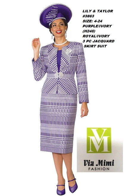LILY & TAYLOR #3863__  3 PC  SET  COLOR: PURPLE/IVORY,  ROYAL/IVORY  SIZE: 4-24  FOR MORE IMFORMATION AND PRICE PLEASE GIVE US A CALL   WE BEAT  ALL PRICES !!!!  VIA MIMI FASHION  1333 S. SANTEE ST.  LA,CA.90015  TEL: (213)748-MIMI (6464)  FAX: (213)749-MIMI (6464)  E-Mail: mimi@viamimifashion.com  http://viamimifashion.com  https://www.facebook.com/viamimifashion    https://www.instagram.com/viamimifashion  https://twitter.com/viamimifashion