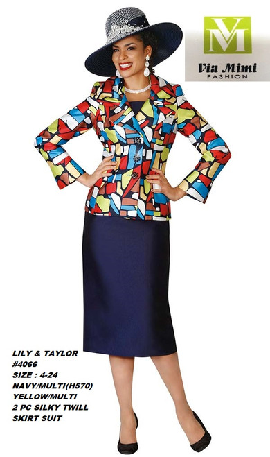 LILY & TAYLOR #4066__ 2 PC SILKY TWILL SUIT  COLOR: NAVY/MULTI, YELLOW/MULTI  SIZE:4-24  FOR MORE IMFORMATION AND PRICE PLEASE GIVE US A CALL   WE BEAT  ALL PRICES !!!!  VIA MIMI FASHION  1333 S. SANTEE ST.  LA,CA.90015  TEL: (213)748-MIMI (6464)  FAX: (213)749-MIMI (6464)  E-Mail: mimi@viamimifashion.com  http://viamimifashion.com  https://www.facebook.com/viamimifashion    https://www.instagram.com/viamimifashion  https://twitter.com/viamimifashion