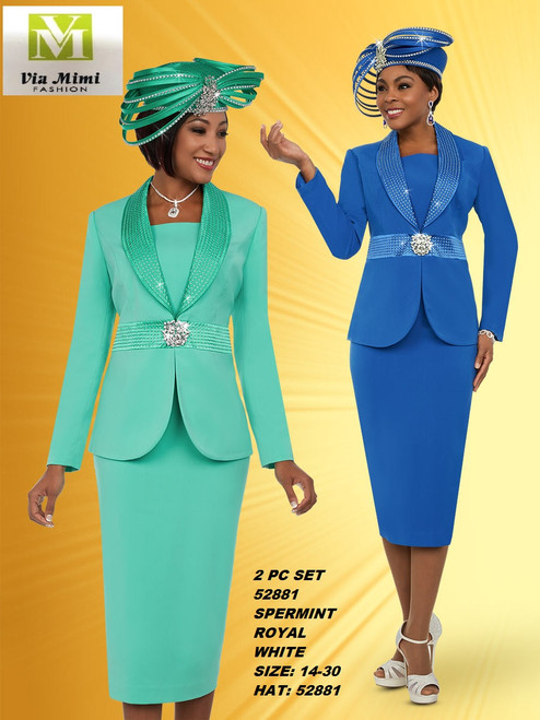 FIFTH SUNDAY #52881__ 2 PC SET  COLOR: SPERMINT, ROYAL, WHITE  SIZE : 14-30  HAT: 52881-H  FOR MORE IMFORMATION AND PRICE PLEASE GIVE US A CALL   WE BEAT  ALL PRICES !!!!  VIA MIMI FASHION  1333 S. SANTEE ST.  LA,CA.90015  TEL: (213)748-MIMI (6464)  FAX: (213)749-MIMI (6464)  E-Mail: mimi@viamimifashion.com  http://viamimifashion.com  https://www.facebook.com/viamimifashion    https://www.instagram.com/viamimifashion  https://twitter.com/viamimifashion