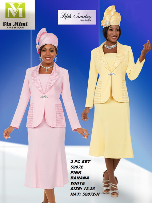 FIFTH SUNDAY #52872__ 2 PC SET  COLOR: PINK, BANANA, WHITE   SIZE: 12-26   HAT: 52872-H   FOR MORE IMFORMATION AND PRICE PLEASE GIVE US A CALL   WE BEAT  ALL PRICES !!!!  VIA MIMI FASHION  1333 S. SANTEE ST.  LA,CA.90015  TEL: (213)748-MIMI (6464)  FAX: (213)749-MIMI (6464)  E-Mail: mimi@viamimifashion.com  http://viamimifashion.com  https://www.facebook.com/viamimifashion    https://www.instagram.com/viamimifashion  https://twitter.com/viamimifashion