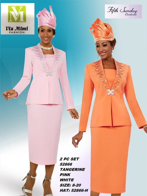 FIFTH SUNDAY #52866__ 2 PC SET  COLOR: TANGERINE, PINK, WHITE  SIZE: 8-20  HAT: 52866-H  FOR MORE IMFORMATION AND PRICE PLEASE GIVE US A CALL   WE BEAT  ALL PRICES !!!!  VIA MIMI FASHION  1333 S. SANTEE ST.  LA,CA.90015  TEL: (213)748-MIMI (6464)  FAX: (213)749-MIMI (6464)  E-Mail: mimi@viamimifashion.com  http://viamimifashion.com  https://www.facebook.com/viamimifashion    https://www.instagram.com/viamimifashion  https://twitter.com/viamimifashion