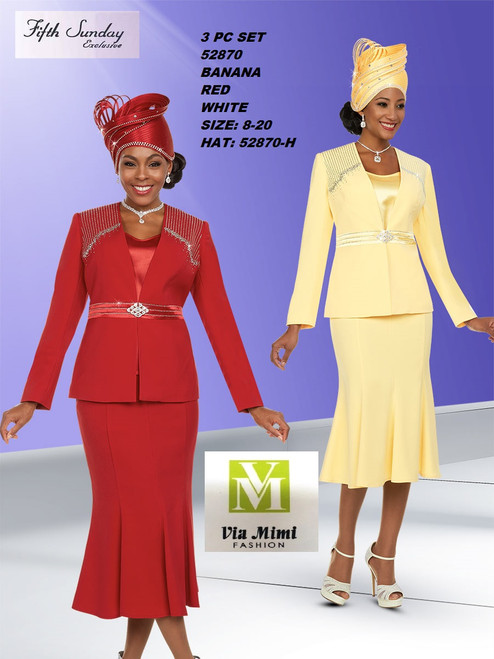 FIFTH SUNDAY #52870__ 3 PC SET  COLOR: BANANA, RED, WHITE  SIZE: 8-20  HAT: 52870-H  FOR MORE IMFORMATION AND PRICE PLEASE GIVE US A CALL   WE BEAT  ALL PRICES !!!!  VIA MIMI FASHION  1333 S. SANTEE ST.  LA,CA.90015  TEL: (213)748-MIMI (6464)  FAX: (213)749-MIMI (6464)  E-Mail: mimi@viamimifashion.com  http://viamimifashion.com  https://www.facebook.com/viamimifashion    https://www.instagram.com/viamimifashion  https://twitter.com/viamimifashion
